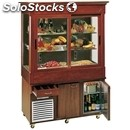 Wall buffet display with refrigerated tank and n. 2 stainless steel undercounter