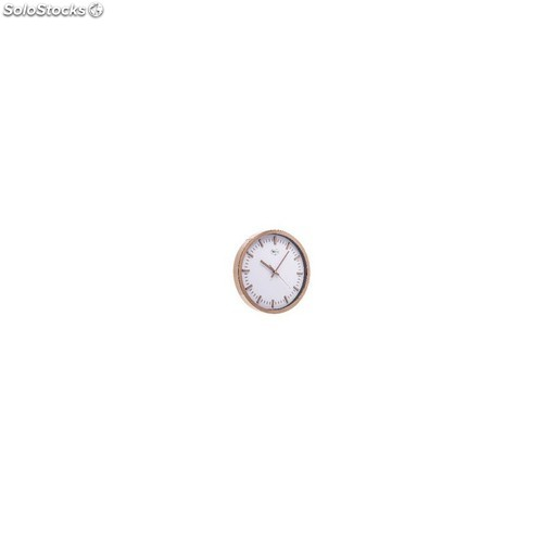 Wall clock 30 cm analogue gold/white