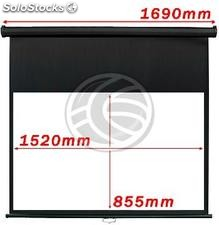 Wall Projection Screen 16:9 DisplayMATIC black 1520x855mm (OW31)
