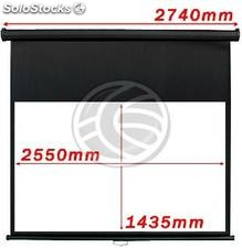 Wall Projection Screen 2550x1435mm 16:9 DisplayMATIC black (OW34)