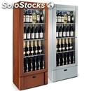 Wall wine display cooler - mod. beauty - wooden structure and adjustable feet -