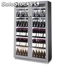 Wall wine display cooler - mod. florida b/r - two sections: one for white wine