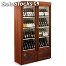 Wall wine display cooler - mod. new york silent double - 2 separate sections -