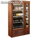 Wall wine display cooler - mod. new york super - 2 sections: one for white wine
