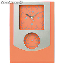 Wanduhr. Orange