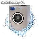 Washing machine at low speed-mod. wm 21 e-stainless-stainless steel tub and drum