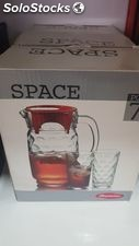 Water pitcher and glasses set - brand new stock