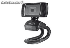 Webcam hd con micrófono trust trino. Hd 720P. Usb. Negro