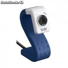 Webcam HERCULES hd twist cobalt - sensor 720p - microfono integrado - fotos