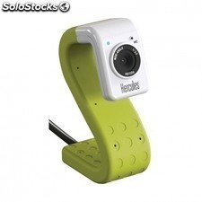 Webcam HERCULES hd twist green - sensor 720p - microfono integrado - fotos