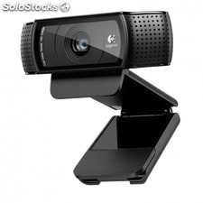 Webcam logitech hd pro C920 - lente cristal full hd - grabaciones 1080P - audio