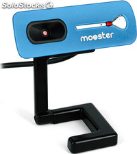 Webcam Mooster 1,3 Mpixels ieyes blue 30fps - software hasta 5.0 pixels -