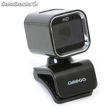 Webcam omega OUW07HQ 1.3Mpx + micrófono hq