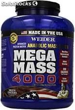 Weider- MEGA MASS, Anabolic Mass Gainer Formula, Smooth Chocolate, 5.95 Libras