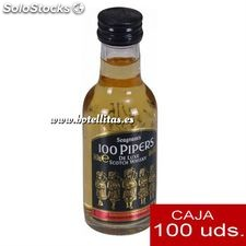 Whisky 100 pipers 5cl caja de 100 uds