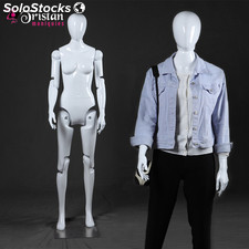 White female mannequin series without movable face / articulable completely