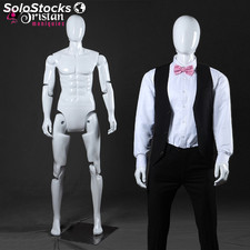 white male mannequin series without movable face / articulable completely