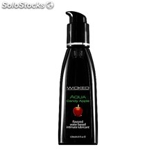 Wicked aqua lubricante con base de agua sabor manzana 120 ml