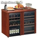 Wine cabinet display cooler - mod. vinoeuropa331 - three temperature zones °c: