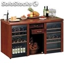 Wine cabinet display cooler - mod. vinoeuropa331stock - three temperature zones