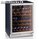 Wine display cooler - 2 zones - mod. ca51/2 - temperature +5/+12 °c e +12/+22 °c