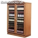 Wine display cooler - mod. wn80 comb.nb - ventilated cooling - temperature °c