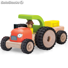 Wonderworld Tractor mini de madera HOUT192421