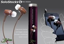 Wood bass iPhone htc earphone and headphone php 012 WhoCare
