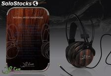 Wood stereo headphone and earphone php 0001 WhoCare