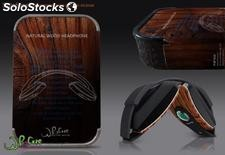 Wood stereo headphone and earphone php 0002 WhoCare