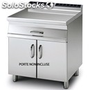 Worktop unit on open cupboard - mod. pl/76 - drawer with n. 1 stainless steel