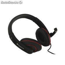 Woxter - i-Headphone PC 780 Negro, Rojo Supraaural auricular
