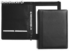 Wriring Case A5 With Ringbinder And Zipper, Black