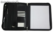 Writing Case A 4 Black Bonded Leather