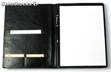 Writing Case A 4 Black Cowsplit Leather