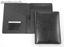 Writing Case A 5 Black Cowsplit Leather