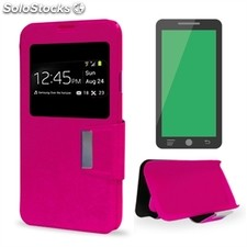 x-One Funda Libro bq Aquaris X5 Rosa