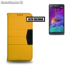 X-One Funda Libro Elite Samsung Note 4 Amarillo