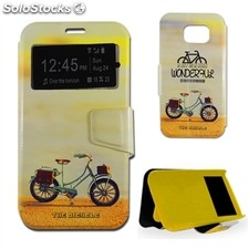 X-One Funda Libro Samsung S6 Bicycle