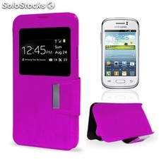 X-One Funda Libro Samsung Young Morado