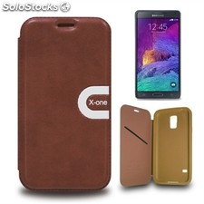 X-One Funda Libro Sport Samsung Note 4 Marron