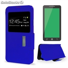 X-One Funda Libro Wiko Rainbow Azul