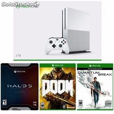 xBox One S Console 2TB - Halo 5 Limited-doom-Quantum Ruptura Brand New: