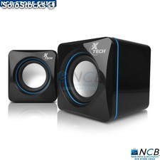Xtech Parlante Mini Pc 2,0, 5W Rms, Usb y 3,5Mm