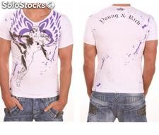 "Young Rich t-shirt Clubwear ""angel"" yr-1913-7443 bianco"