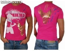"Young Rich t-shirt Clubwear ""domina"" yr-1913-7452 Rosa"