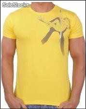 "Young Rich t-shirt Clubwear ""go go girls"" yr-1911-9809 giallo"