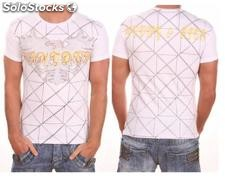 "Young Rich t-shirt Clubwear ""scream"" yr-1913-9895 Bianco"