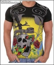 "Young Rich t-shirt Clubwear ""scream"" yr-1913-9895 Nero"