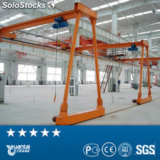 Yt bmh double girder semi gantry crane